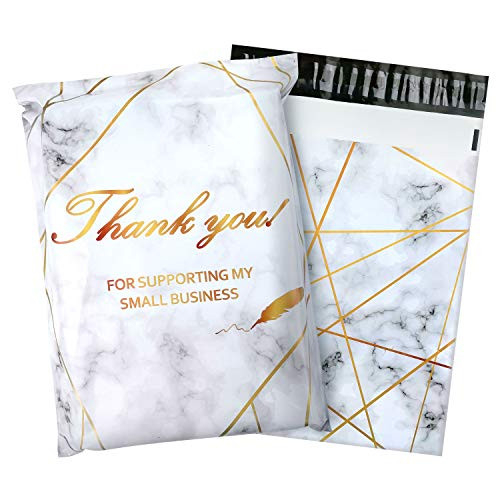 100 Pack Poly Mailers 10x13, Cute Packaging Envelope Mailers