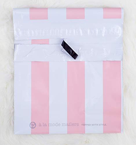 10x13 Pack of 100 Bubble Gum Reusable Poly Mailers