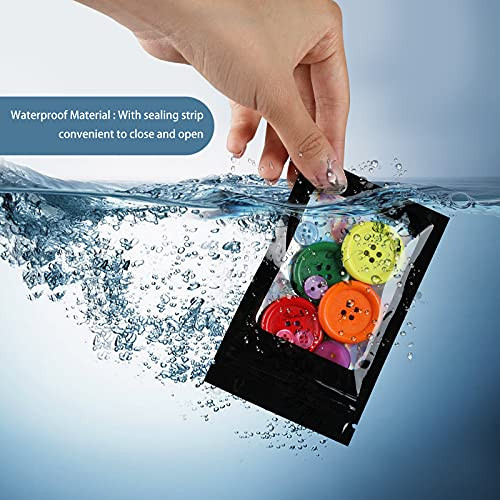 120 PCS Smell Proof Mylar Bags Resealable Odor Proof Bags