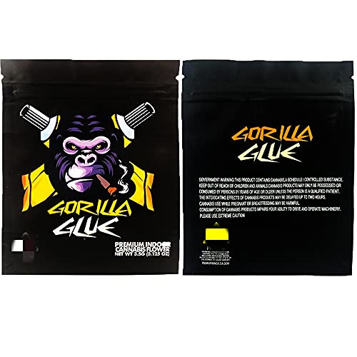 25 Pcs Smell Proof Mylar Bags 3.5Bags Designs Resealable