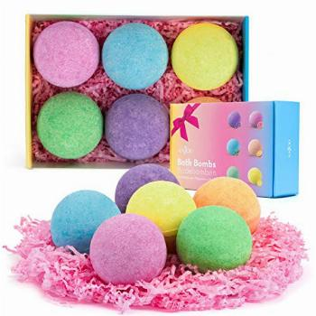 Anjou Bath Bombs, 6 Pack Fizzies Spa Gift Set Pure Natural