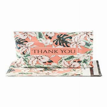 Bagnosis Poly Mailers 10x13 In. 100 Tropical Floral Poly