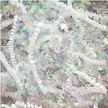 Crinkle Cut Paper Shred Filler (1/2 LB) for Gift Wrapping &