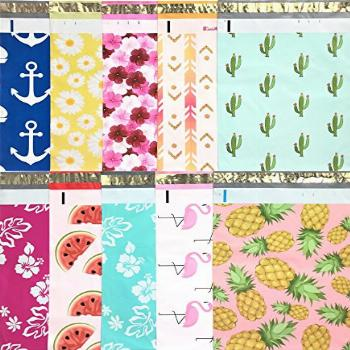 Designer Poly Mailers 10x13: Sample Variety Pack ~ Anchor,