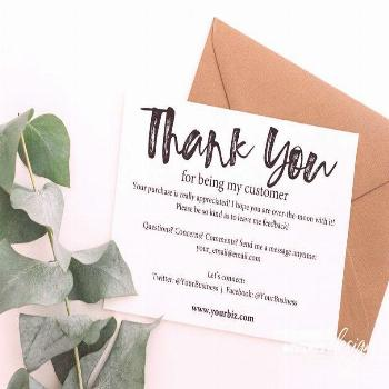 INSTANT Business Thank You Cards Editable PDF Purchase Thank | Etsy