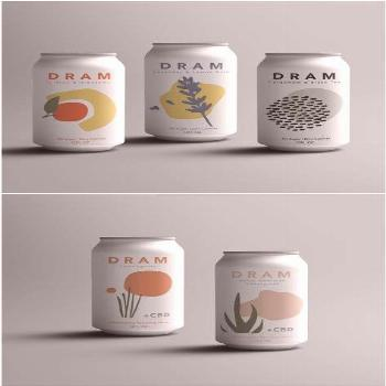 Label Design for Sparkling CBD and Herbal Waters  Brand / Project Name: Dram Apothecary Location: U