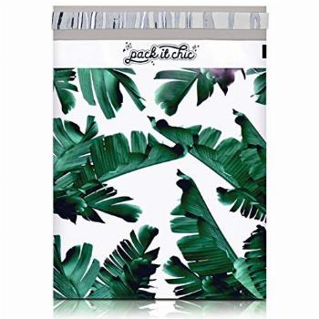 Pack It Chic - 10X13 (100 Pack) Tropical Leaves Poly Mailer