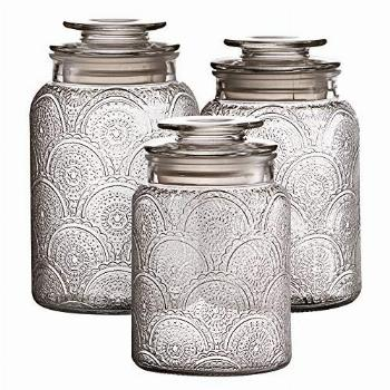 Style Setter Canister Set 3-Piece Jars in 1, 1.3 & 1.6
