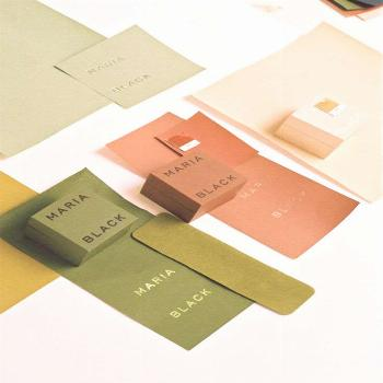 Stylish and minimalist packaging with a retro inspired colored palette, adding a mid century look t