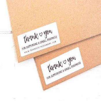 Thank You For Supporting Small Business Stickers Shop Seller Packaging Package Labels Custom Person
