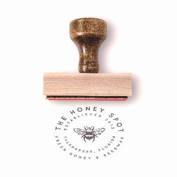 This custom logo stamp is designed and ready for your small business info. How to Order: Choose you