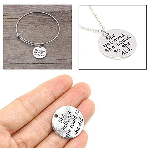 Asahi Packaging20pcs Antique Silver Round she Believed she