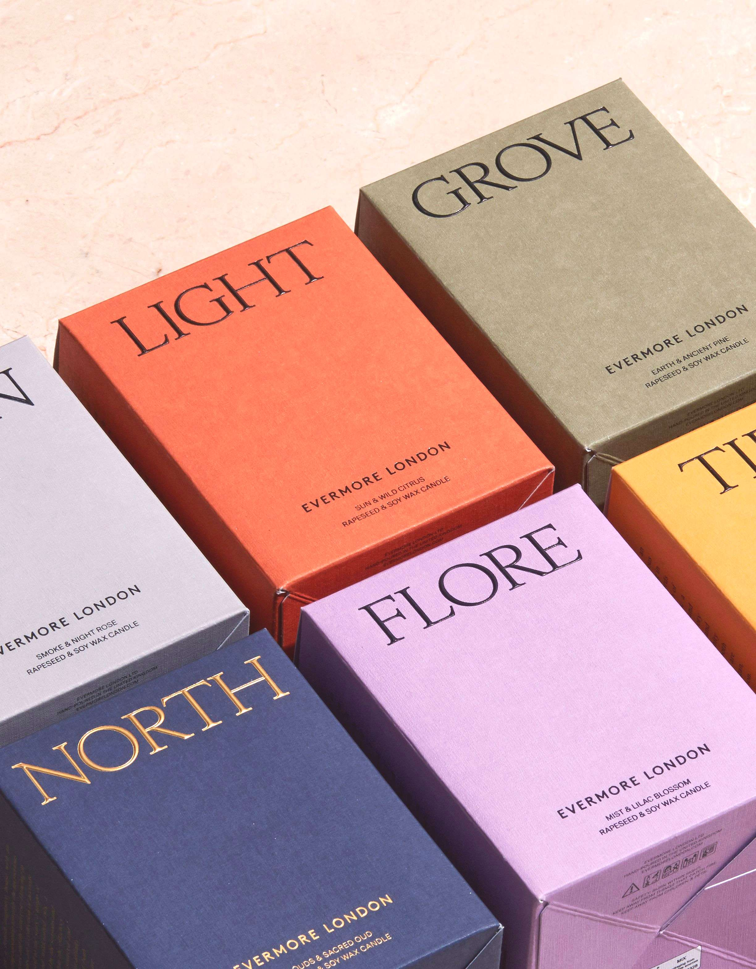 Colour Packaging Evermore London Candle Boxes