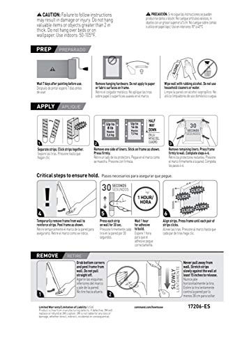 Command Large Picture Hanging Strips Heavy Duty, White,
