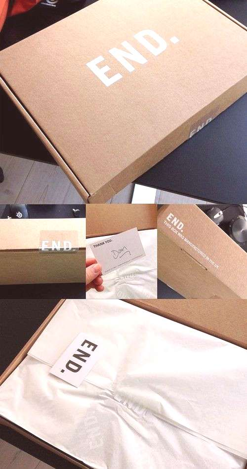 End Clothing UK - some great unboxing ideas