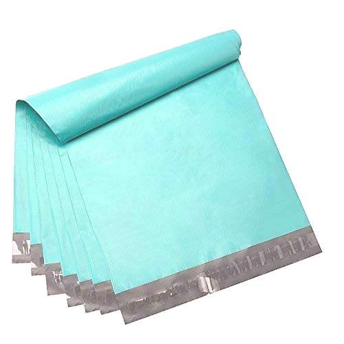 Fuxury 100 Pcs 12x15.5 Teal Poly Mailer Envelopes for