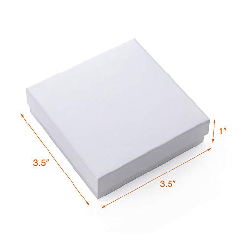 Giftol 40 Pack 3.5x3.5x1 Inch Cardboard Jewelry Boxes,Small