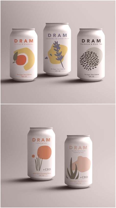 Label Design for Sparkling CBD and Herbal Waters Brand / Project Name Dram Apothecary Location U