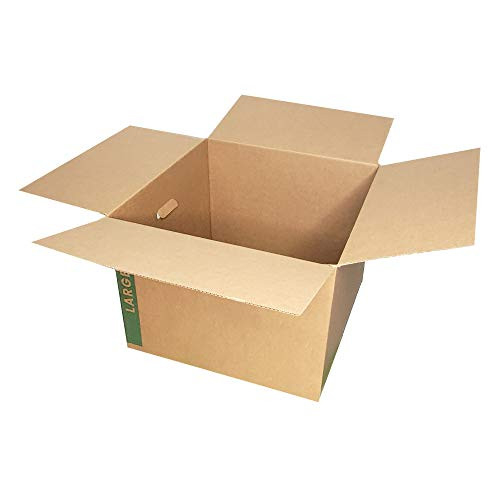 Large Moving Boxes Pack of 12 with Handles– 20quot x20quot x15quot