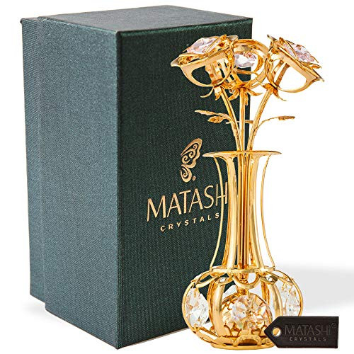 Matashi Sunflowers in vase Ornament Crafted with Stunning