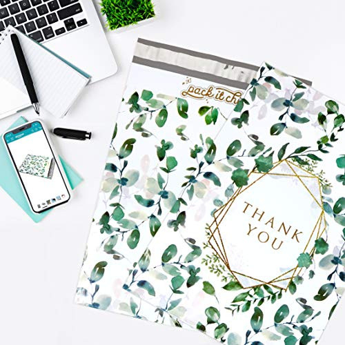 Pack It Chic - 10X13 (100 Pack) Geometric Leaves Pattern -