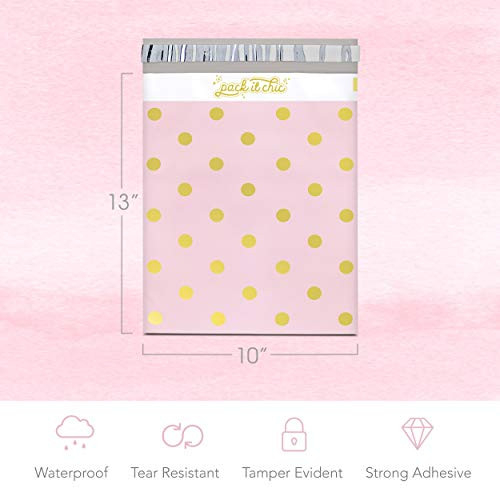 Pack It Chic - 10X13 (100 Pack) Pink Polka Dot - Thank You