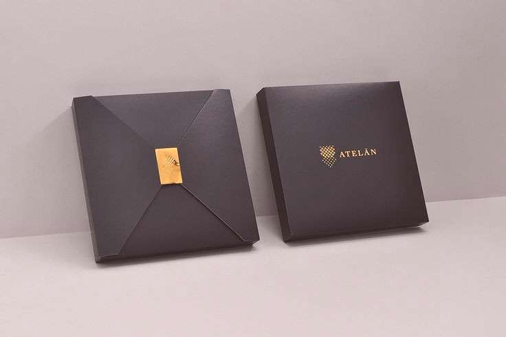 Packaging with copper embossed sticker by Firmalt for Atel�n, a champion of local and internation
