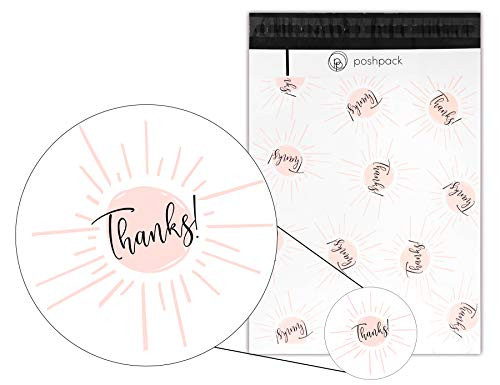 PoshPack - 10quot X 13quot (100 Pack) Designer Thank You Poly