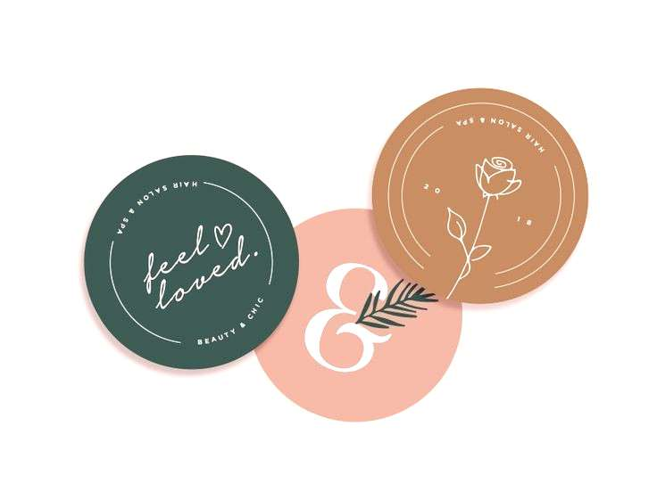 Sticker Packaging Labels by Ava Victoria. Light, elegant and linear packaging style which clearly s