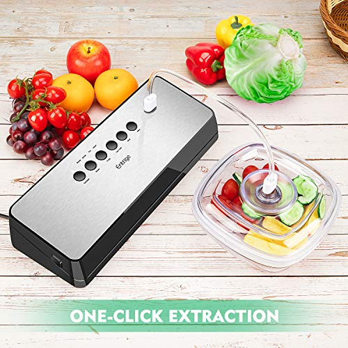 Vacuum Sealer Machine by Entrige, Automatic Food Sealer for